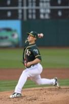 Tampa Bay Ray's vs Oakland A's #48 Pitcher Daniel Gossett Photos by Tod Fierner Martinez News-Gazette
