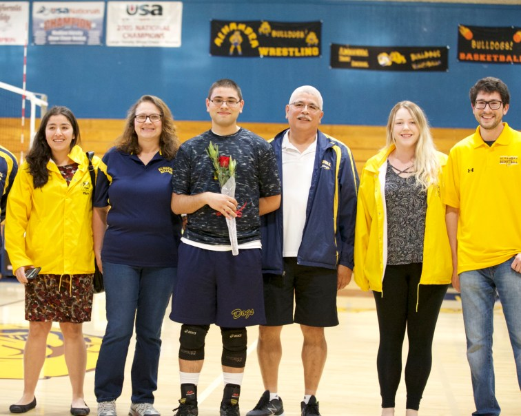 #2 Lucas Martinez Alhambra Boy's Volleyball Senior Night Photos by Mark Fierner Martinez News-Gazette