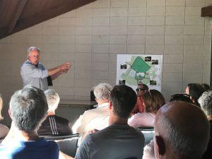 City Engineer Tim Tucker describes changes to Golden Hills Park