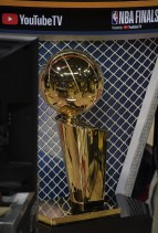 Warriors vs Cavs NBA Finals Game One. Larry O'Brien Trophy Photos by Gerome Wright Martinez News-Gazette