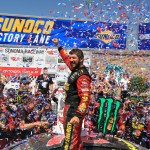 Truex wins Toyota/Save Mart 350, cruises to victory circle after late pit stop