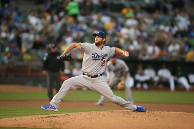 Oaklands A's vs LA Dodger's #22 LHP Clayton Kershaw Photos by Tod Fierner ( Martinez News-Gazette )