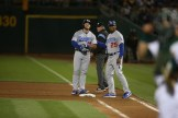 Oaklands A's vs LA Dodger's Ex-Oakland A's #13 1B Max Muncy Photos by Tod Fierner ( Martinez News-Gazette )