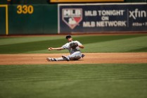 Oakland Athletics vs Toronto Blue Jay's #26 Jay's 3B Yangervis Solarte A's win 8-3 Photos by Tod Fierner ( Martinez News-Gazette )