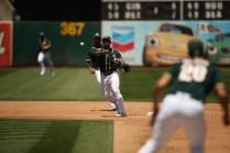 Oakland Athletics vs Toronto Blue Jay's #1 2B Franklin Barreto A's win 8-3 Photos by Tod Fierner ( Martinez News-Gazette )
