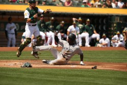 Oakland A's vs New York Yankees #26 RF Andrew McCutchen Photos by Tod Fierner ( Martinez News-Gazette )