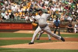 Oakland A's vs New York Yankees #52 LHP CC Sabathia Photos by Tod Fierner ( Martinez News-Gazette )