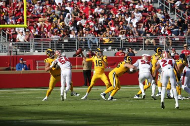 San Francisco 49ers vs Los Angeles Rams #16 QB Jared Goff Photos by Tod Fierner (Martinez News-Gazette)