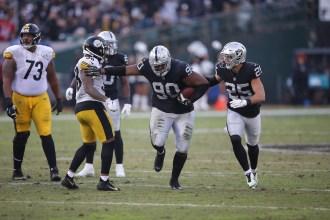 Oakland Raiders vs Pittsburgh Steelers DT #90 Johnathan Hankins Photos by Tod Fierner ( Martinez News-Gazette )