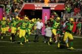 Michigan State Spartans vs Oregon Ducks Ducks Head Coach Mario Cristobal Redbox Bowl