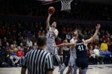 Saint Mary's Gaels vs BYU Cougars #12 Guard Tommy Kuhse Lays it in for two Photos by Tod Fierner (Saint Mary's College)
