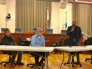 Carl Nagy, Dave Sperow and Francisco Castillo at the UPRR town hall.