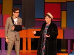 Isaiah Huntsinger and Cassie Kendig as Mrs. Mae Peterson