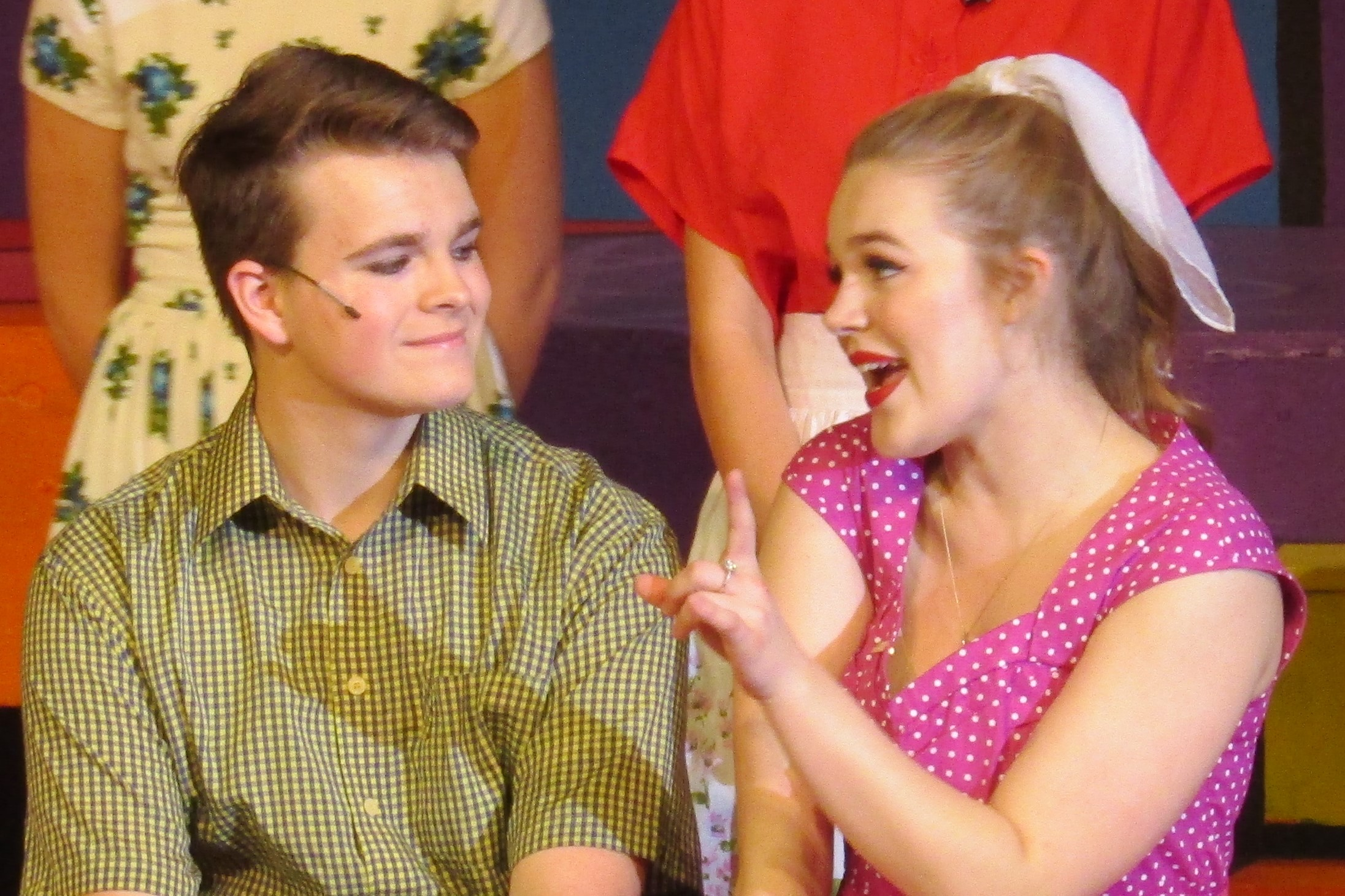 Jeffrey Metz as Hugo Peabody and Skylar Wondrusch as Kim MacAfee 1