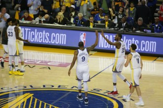 Golden State Warriors vs Houston Rockets Game 1 Western Conference Semifinals Photos by Tod Fierner (Martinez News-Gazette)