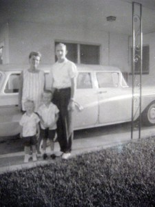 Jeff Roubal's family car, 1956 Ford station wagon.