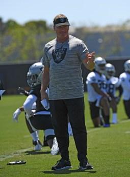 2019 Oakland Raiders Rookie Mini Camp Head Coach Jon Gruden Photos by Gerome Wright (Martinez News-Gazette)