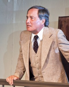 Ken Sollazo potrays Leonard Vole in 'Witness for the prosecution' at the Orinda Starlight Theater.