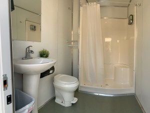 The Bay Church recently invested in four mobile bathroom showers to make available to those in need.
