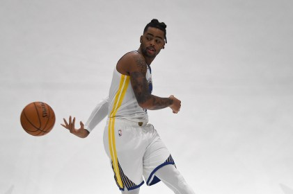 Golden State Warriors Media Day # 0 S-Guard D'Angelo Russell