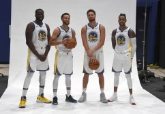 Golden State Warriors Media Day #23 Draymond #30 Steph #11 Clay & #0 D'Angelo