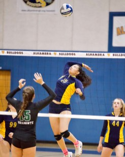 Alhambra Girls Volleyball vs Miramonte Photos by Mark Fierner ( Martinez News-Gazette )