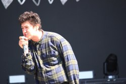Sacramento Rock Group lead singer Frank Lopez of Hobo Johnson and the Lovemakers