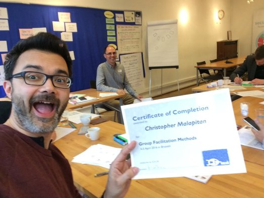 Chris Mapitlan with certificate