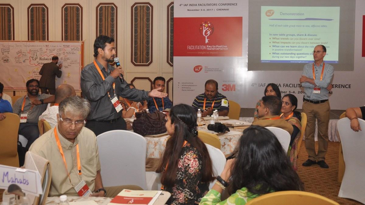 IAF India Conference, 2017 in Chennai - photo IAF India, facilitation Martin Gilbraith #ToPfacilitation #IAFIndia17 2