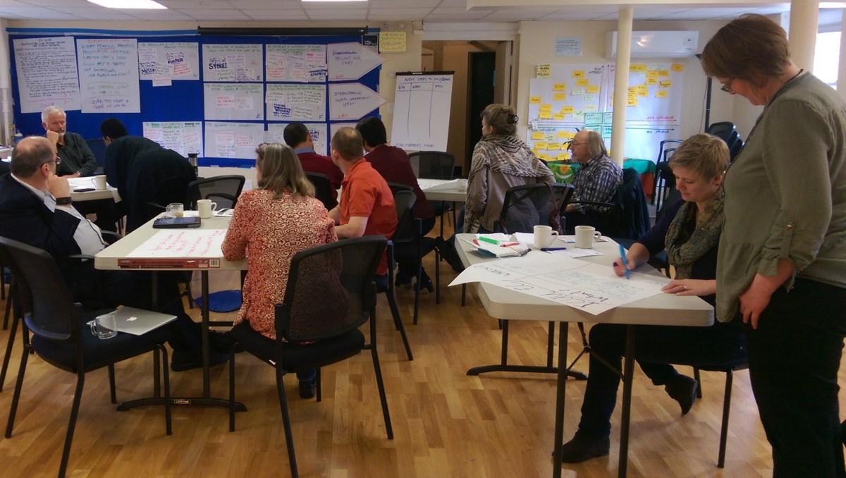 ToP Participatory Strategic Planning with ICUU, 2016 in Boston - photo & facilitation Martin Gilbraith #ToPfacilitation 4