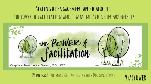 Scaling up engagement and dialogue - the power of facilitation and communications in partnership