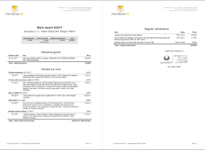Work Reports – a Miracle Cure That Came Just in Time