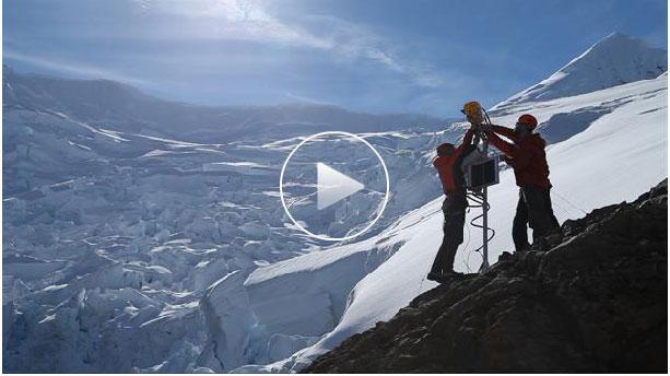 Om att filma smältande glaciärer