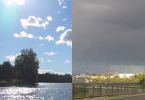 Växlande väder, sol och moln