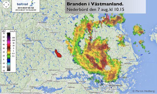 Branden: Flygbomba jämfört med regn?