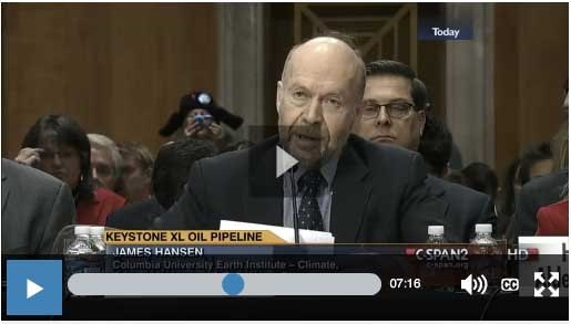 Dr. James E. Hansen Testimony before the Senate Foreign Relations Committee