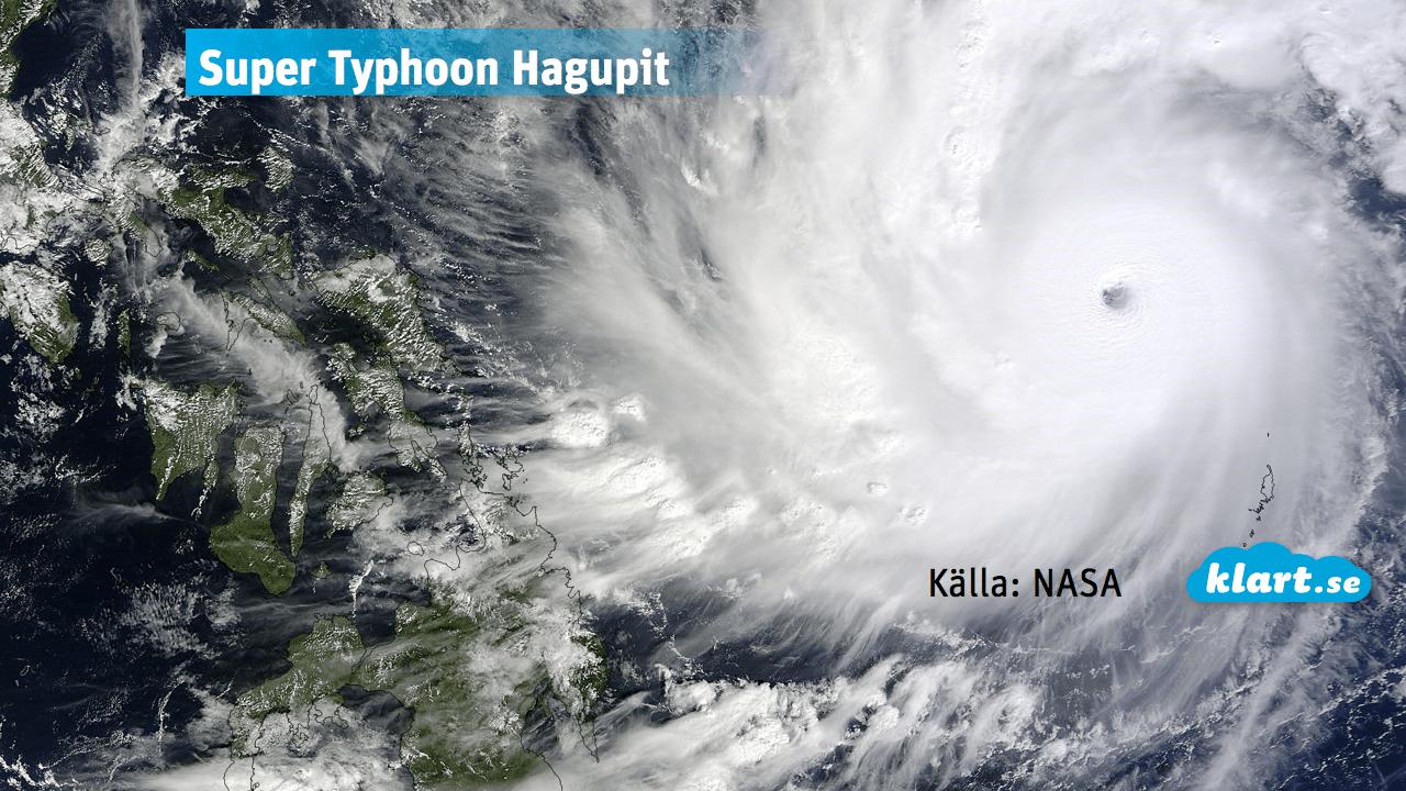 Supertyfonen Hagupit mot Filippinerna
