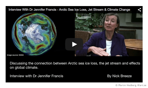 Jennifer Francis - Arctic Sea Ice Loss, Jet Stream & Climate Change