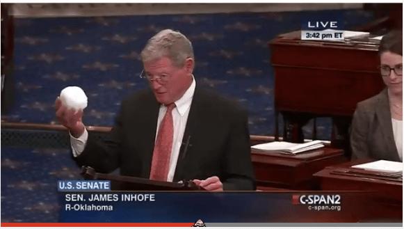 """Patetiskt och roligt argument från """"klimatskeptikern"""" James Inhofe"""