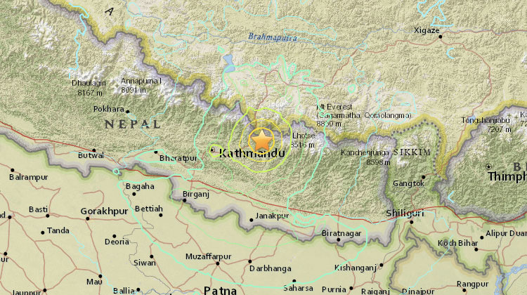 Ny jordbävning i Nepal