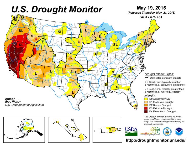 US Drought Monitor, NOAA