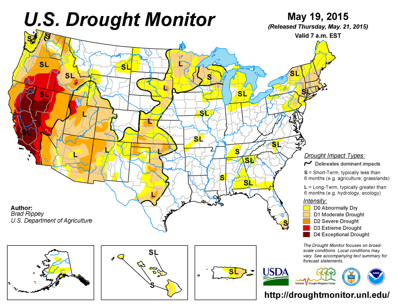 US Drought Monitor, NOAA