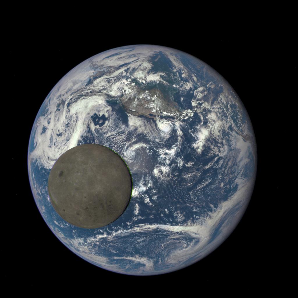 Ett unikt perspektiv på Jorden och Månen