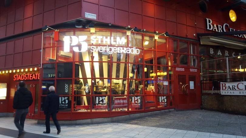 SR P5 Stockholms nya lokaler på Drottninggatan invid Sergels Torg i Stockholm.