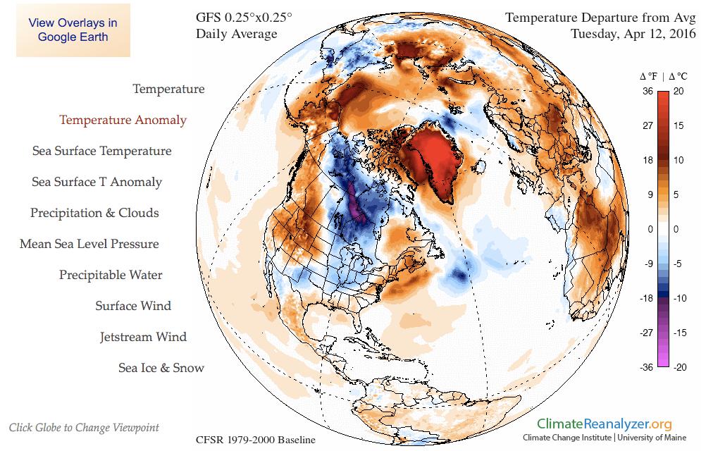 Ovanligt varmt på Grönland
