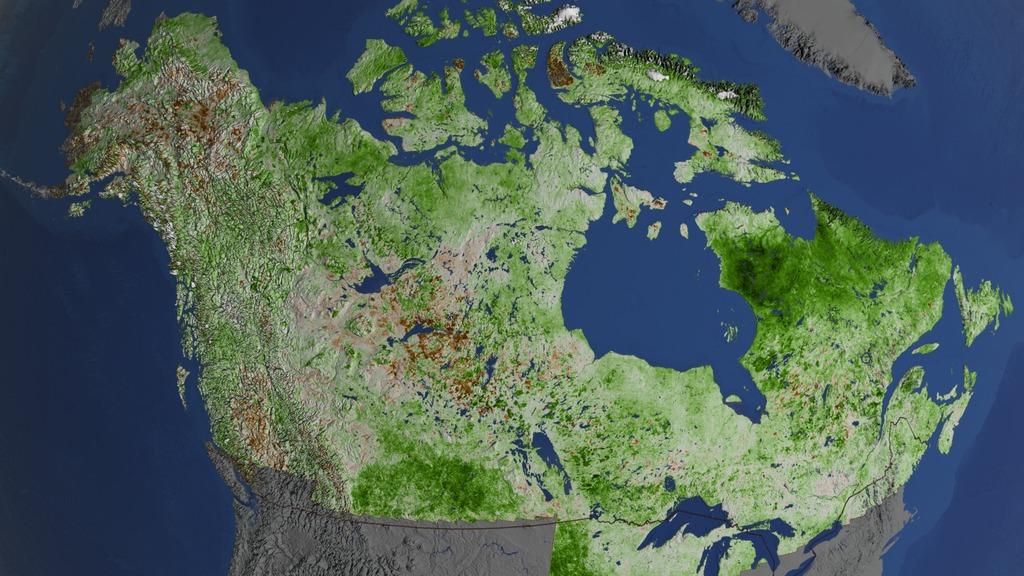Kanada och Alaska blir allt grönare