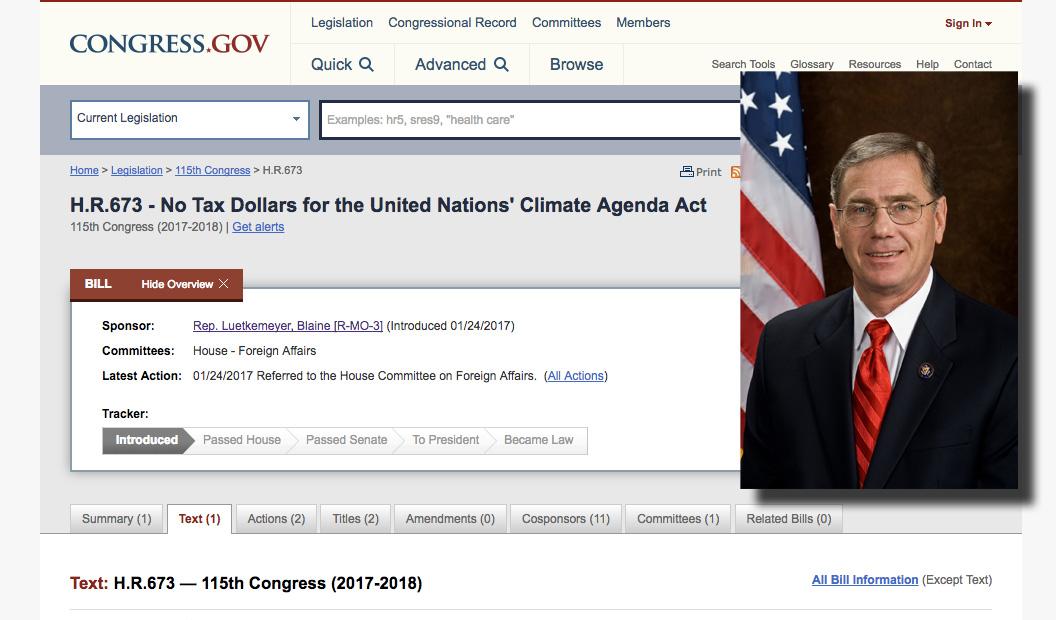 Republikanskt lagförslag dra in medlen till IPCC