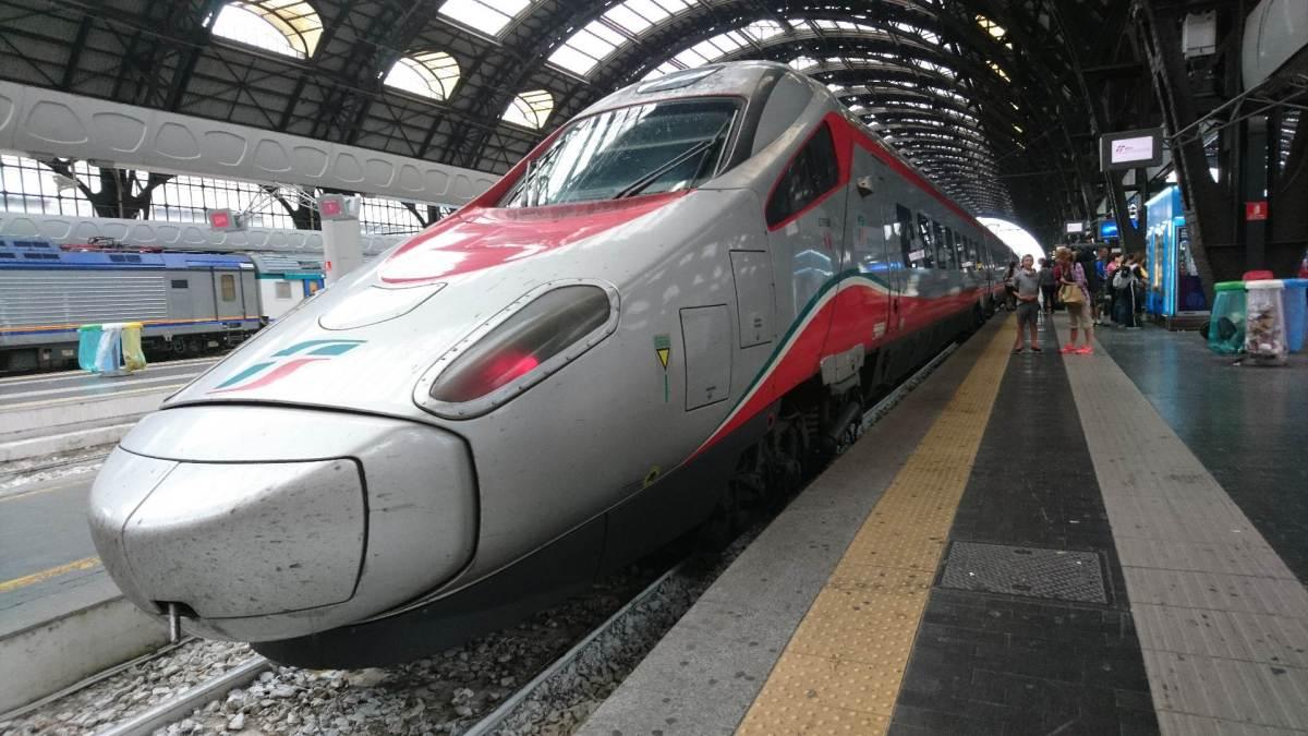 Med tåg till Italien