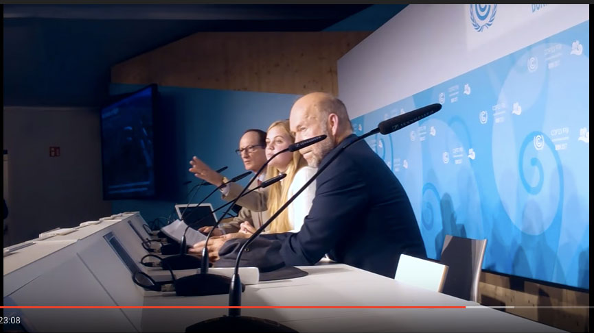 """COP23 """"Young Peoples Burden: Averting Climate Disaster"""""""