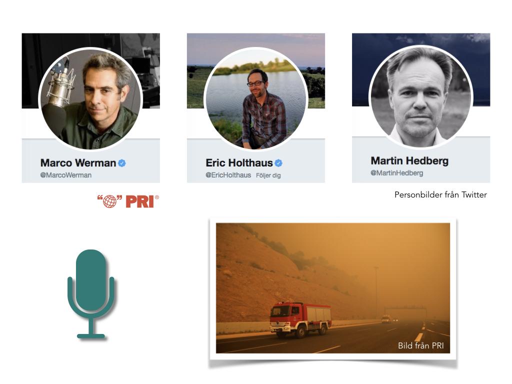 Intervju på Public Radio International (PRI)